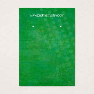 Bright Green Background Earring Cards