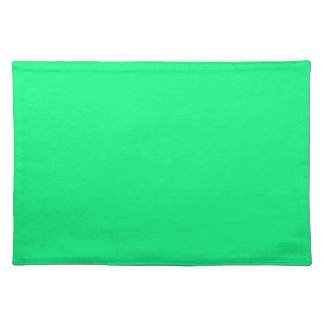 Bright Green Background on a Placemat