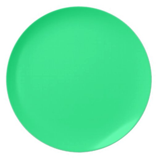 Bright Green Background on a Plate