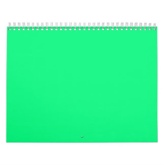 Bright Green Backgrounds on a Calendar