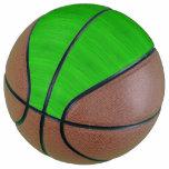 Bright Green Bamboo Wood Grain Look Basketball