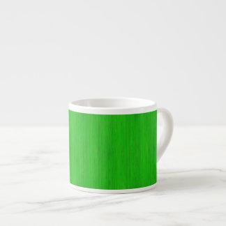 Bright Green Bamboo Wood Grain Look Espresso Cup