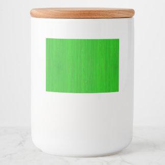 Bright Green Bamboo Wood Grain Look Food Label