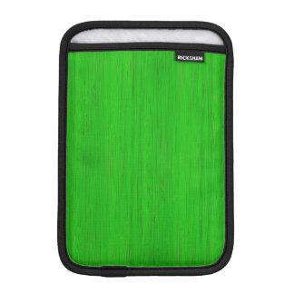 Bright Green Bamboo Wood Grain Look iPad Mini Sleeve