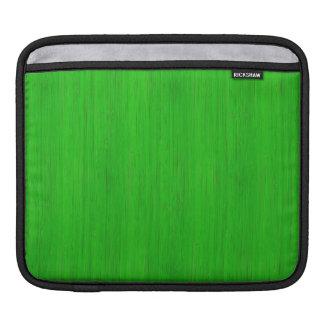 Bright Green Bamboo Wood Grain Look iPad Sleeve