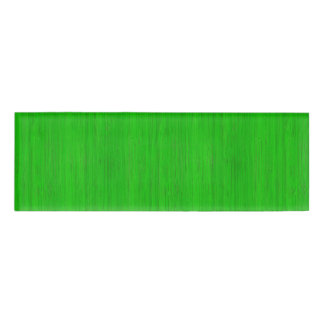 Bright Green Bamboo Wood Grain Look Name Tag
