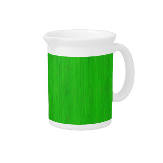 Bright Green Bamboo Wood Grain Look Pitcher