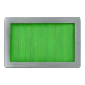Bright Green Bamboo Wood Grain Look Rectangular Belt Buckle