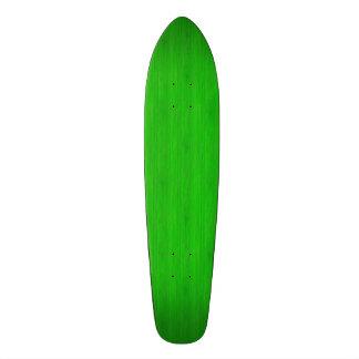 Bright Green Bamboo Wood Grain Look Skate Board Decks