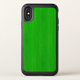 Bright Green Bamboo Wood Grain Look Speck iPhone X Case