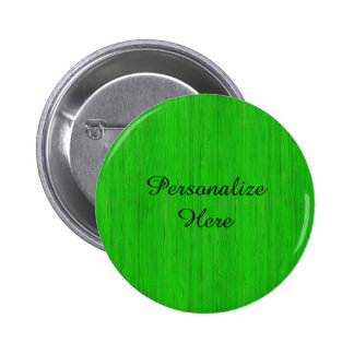 Bright Green Bamboo Wood Look 2 Inch Round Button