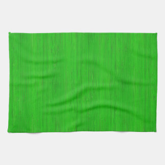 Bright Green Bamboo Wood Look Kitchen Towels