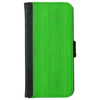 Bright Green Bamboo Wood Look iPhone 6 Wallet Case