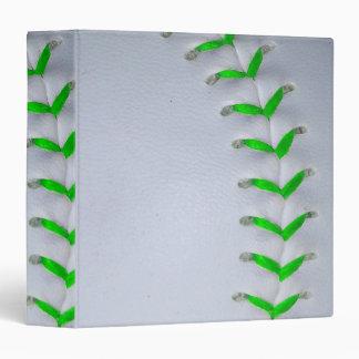 Bright Green Baseball / Softball Stitches Binder