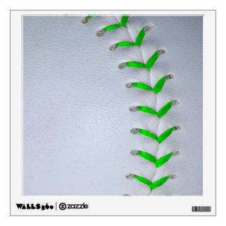 Bright Green Baseball / Softball Stitches Wall Sticker