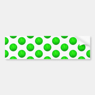 Bright Green Basketball Pattern Bumper Sticker