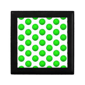 Bright Green Basketball Pattern Gift Box