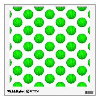 Bright Green Basketball Pattern Wall Sticker
