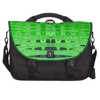 bright green black pattern commuter bag