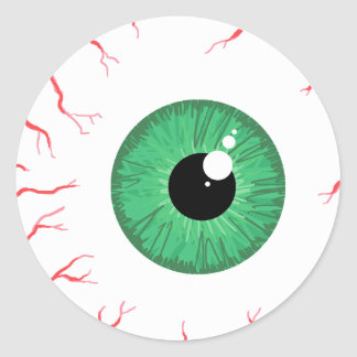 Bright Green bloodshot eyeball sticker