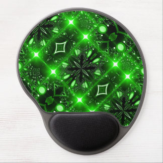 Bright green brilliant light gel mouse pad