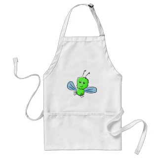 Bright Green Bug Flying Insect Adult Apron