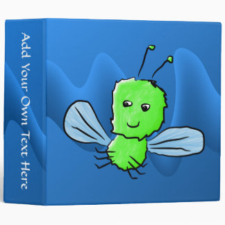 Bright Green Bug Flying Insect Binder