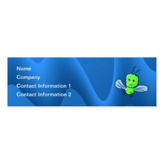 Bright Green Bug Flying Insect Double-Sided Mini Business Cards (Pack Of 20)
