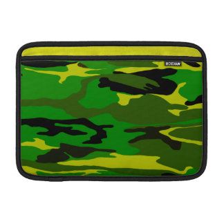 Bright Green Camo MacBook Air Sleeve