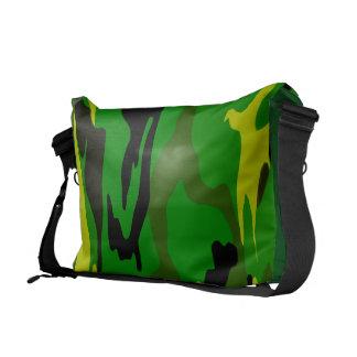 Bright Green Camo Messenger Bag