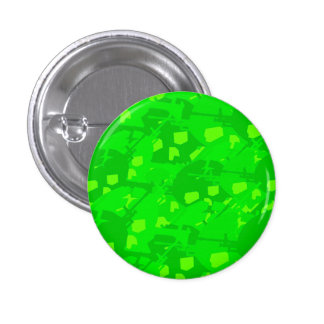 Bright Green Camouflage Pinback Button