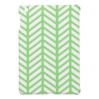Bright Green Chevron Folders iPad Mini Cover