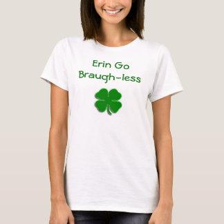 Bright Green Clover, Erin Go Braugh-less T-Shirt