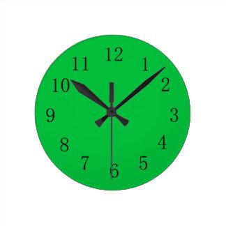 Bright Green Color Wall Clock