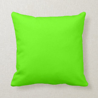 Bright Green Designer Solid Color Accent Pillow