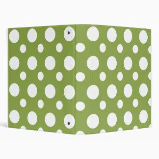Bright Green Dots School Notebook 3 Ring Binder