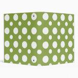 Bright Green Dots School Notebook Vinyl Binder