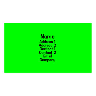 Bright Green Double-Sided Standard Business Cards (Pack Of 100)