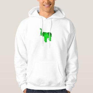 Bright Green Elephant Hoodie