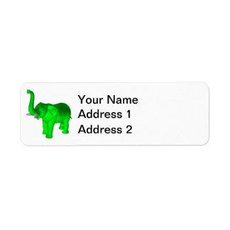 Bright Green Elephant Label