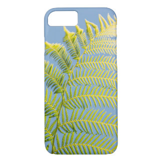 Bright Green Fern On A Blue Background iPhone 8/7 Case