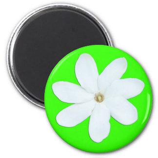 Bright Green Flower Magnet