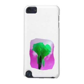Bright Green Flower Purple Sky watercolor style iPod Touch 5G Cover