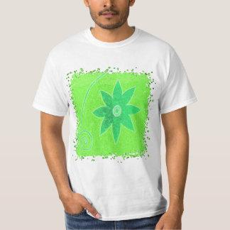 Bright green flower T-Shirt
