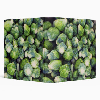 Bright Green Fresh Brussels Sprouts 3 Ring Binder