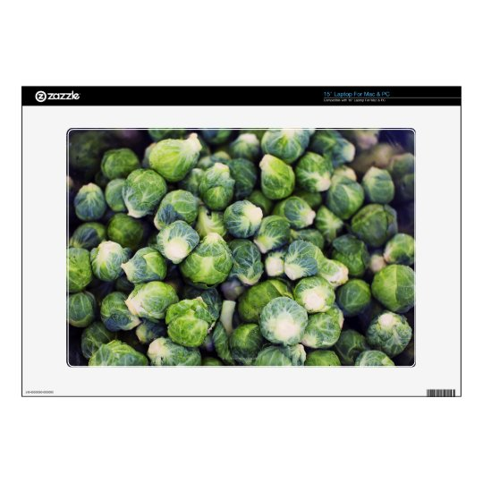 """Bright Green Fresh Brussels Sprouts Decals For 15"""" Laptops"""