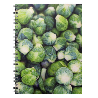 Bright Green Fresh Brussels Sprouts Notebooks