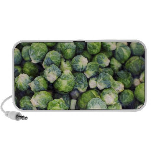 Bright Green Fresh Brussels Sprouts iPhone Speaker