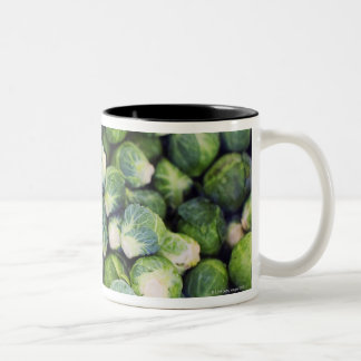 Bright Green Fresh Brussels Sprouts Two-Tone Coffee Mug