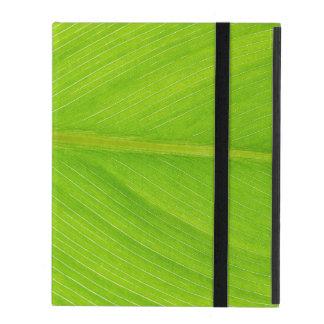 bright green fresh leaf iPad folio case
